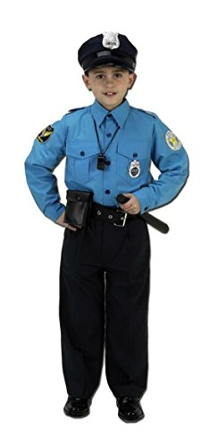 Boys Police Suit Kids Child Fancy Dress Party Halloween Costume