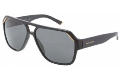 Dolce & Gabbana Dg4138 Sunglasses-501/87 Shiny Black (Gray Lens)-62Mm