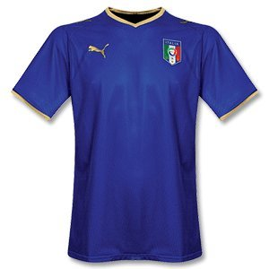 Puma Men's 733916-01 Italia Replica Home Football Shirt - Blue, Medium