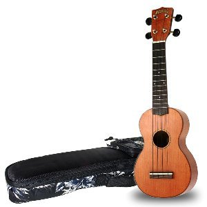 Mahalo Koa Wood Ukulele with Case