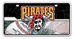Pittsburgh Pirates 6001 Metal License Plate Tag Baseball