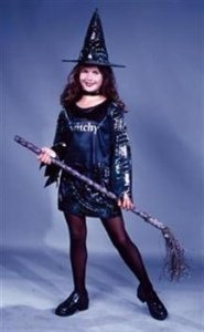 Little Witchy Child Large Costume