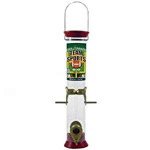 Droll Yankees TS-40211 Team Sports 15in. Garnet and Gold Sunflower-Mixed Seed Feeder