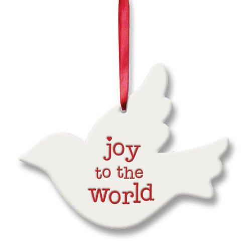 Gregg Gift Reason to Rejoice Songbird Shaped Joy World Ornament, 3.5-Inch