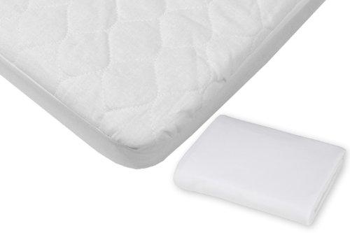 White Crib Bedding Set front-39039