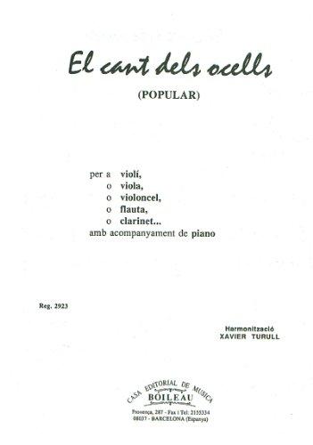 Musica Española - El Cant dels Ocells (Popular Catalana) para Instrumento y Piano (Turull)