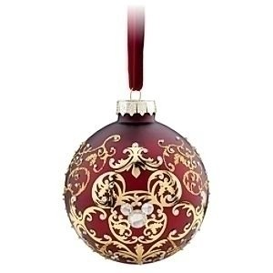 dark-red-mickey-mouse-icon-christmas-ornament-with-jewels