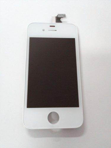 iPhone 4 カラータッチパネル(フロントガラスデジタイザ) 液晶パネルセット(ホワイト)