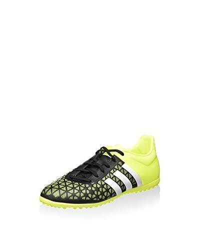 adidas Zapatillas de fútbol ACE 15.3 TF J Negro / Blanco / Amarillo