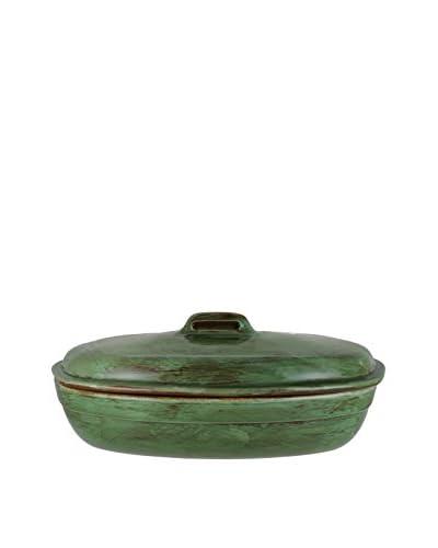 COLI 3.25-Qt. Italian Stoneware Oven/Stovetop Roaster, Cilantro Green
