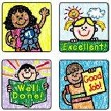 Carson Dellosa Kid-Drawn Motivational Stickers (0621)