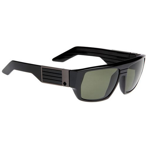Spy Blok Sunglasses - Spy Optic Look Series Race Wear Eyewear - Color: Black/Grey Green, Size: One Size Fits All