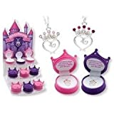 Petite Princess Crown Necklace in Figural Gift Box, Colors may vary