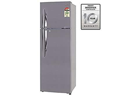 LG GL-M322RPZL Frost-free Double-door Refrigerator (310 Ltrs, 4 Star Rating, Shiny Steel)
