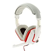 BuW G100 High Quality Gaming White Headphone With Microphone, headsets, wireless headphones, wireless headset, bluetooth headset, headphones with microphone, pc gaming headset