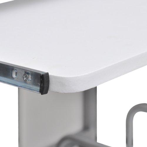 Tavolo scrivania per computer mobile cassetto estraibile finitura bianca