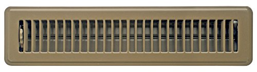 Accord ABFRBR214 Floor Register with Louvered Design, 2-Inch x 14-Inch(Duct Opening Measurements), Brown (Angled Floor Vents compare prices)