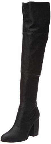 BULLBOXER037506F7S - Stivali alti con imbottitura leggera Donna , Nero (Schwarz (BLCK)), 36 EU