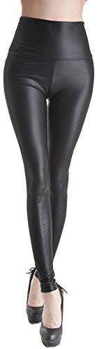 womens-faux-leather-high-waist-matte-leggings-pants-medium-black