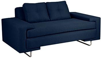 Loni M. Designs Rico Love Seat - Navy