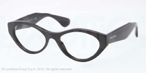 Miu Miu MIU MIU Eyeglasses MU 03MV 1AB1O1 Black 52MM