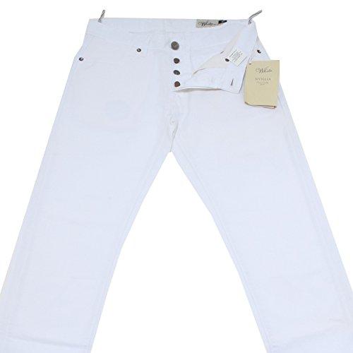 40431 pantaloni WHITE SIVIGLIA jeans uomo trousers men [34]