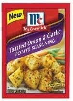 McCormick Toasted Onion & Garlic Potato Seasoning Mix (1.25 oz Packets) 4 Pack
