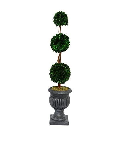 Laura Ashley 44 Triple Balls Preserved Boxwood with Urn
