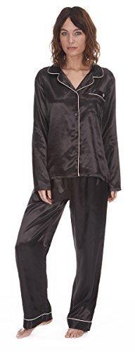 ladies-satin-silk-pyjama-set-silky-summer-lounge-pajamas-or-dressing-gown-12-14-black-pyjamas