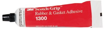 3M 1300 Neoprene High Performance Rubber & Gasket Adhesive, Yellow 5 Oz. Tube (Pack of 1)