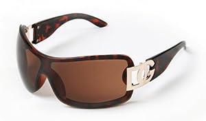 D.G DG ® Eyewear - Tortoise with Smoke Mirror Flash Lens Ladies Designer Women's Sunglasses