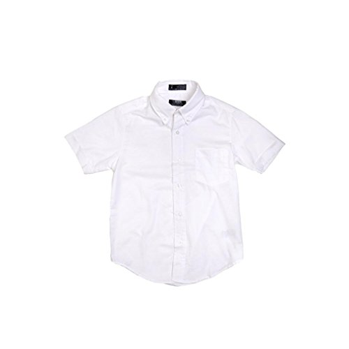 French Toast Boys White Short Sleeves Oxford Shirt - E9003 - White, 10