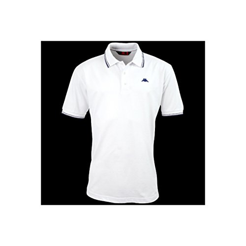La polo Robe di Kappa - Livingston - White-Blue Deep - XXL