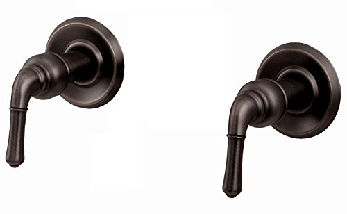 Trim Kit for 2-handle Shower Valve, Fit Delta Washerless Shower, Oil Rubbed Bronze Finish -By Plumb USA 38827