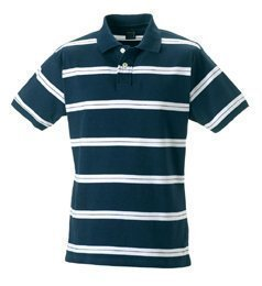 Jerzees Lightweight Striped Campus Polo Shirt