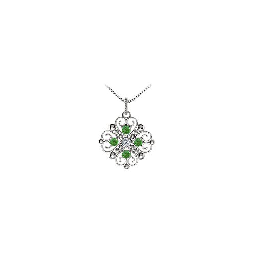 Birthstone created emerald heart pendant buy jewelry pendants choose this elegant white gold heart pendant with may birthstone created emerald and cz to express your emotions this heart pendant necklace features four aloadofball Images