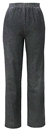 Denim Slacks - Elastic Waist For Dressing Ease (4 Petite, black)