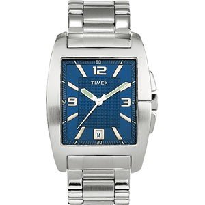 Fashion Dress, Blue Dial, Stainless Bracelet, Mens