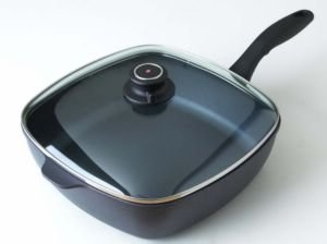 Swiss Diamond Covered Square Chicken Fry Saute Pan 5 Quart