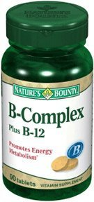 B Complex And B-12 Vitamin Tablets, By Natures Bounty - 90 Tablets (Pack Of 5)