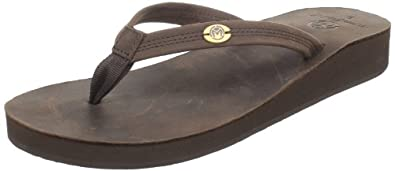 Ocean Minded by Crocs Women's Del Mar Thong Sandal,Chocolate,6 M US
