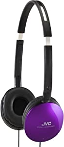 JVC iPhone and iPod Compatible Foldable Lightweight Headphones - Violet