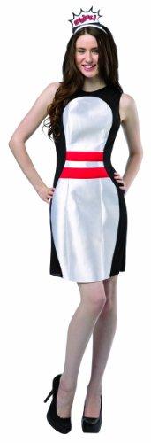 Rasta Imposta Women's Let's Bowl Pin Dress, Black/White/Red, One Size - 1