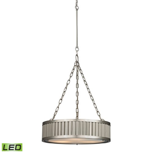 Linden Collection 3 Light Pendant In Brushed Nickel - Led, 800 Lumens (2400 Lumens Total) With Full Scale Dimming Range, 60 Watt (180 Watt Total)Equivalent , 120V Replaceable Led Bulb Included.