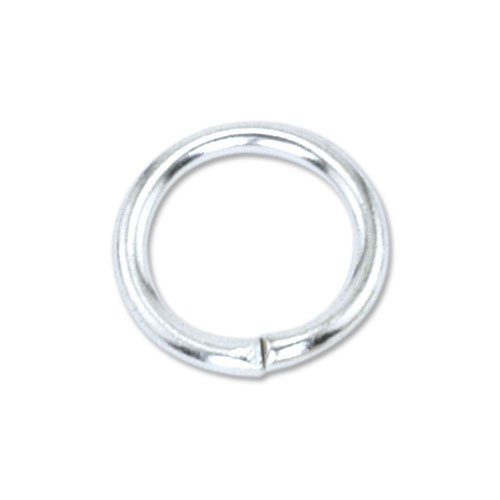 Beadalon 144-Piece 8-MM Jump Ring, Silver Plate