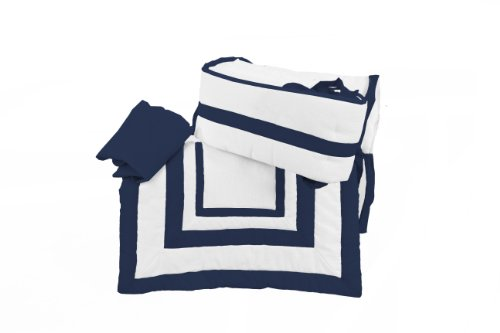 Imagen de Bebé Estilo Doll Modern Hotel Port-a-Crib Bedding Set, Navy