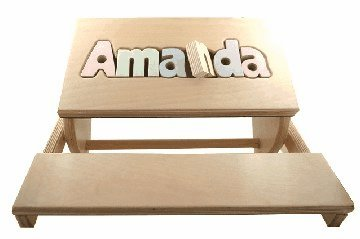 Childrens Custom Made Puzzle Flip Step Stool or Kids Chair