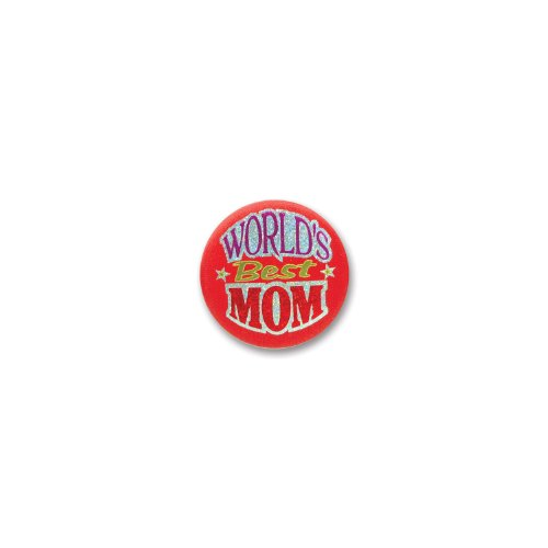 "World's Best Mom Satin Button 2"" Party Accessory"
