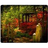 luxlady-gaming-mousepad-foto-id-beautiful-manicured-24354750-motivo-giardino-in-legno-con-un-ponte-c