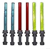 Lego Lightsaber Lot- 6 TOTAL - 3 Different Colors with Hilts